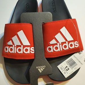 Adidas adilette comfort slides color red and black
